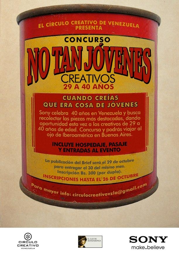 Concurso No tan jóvenes Creativos 29 a 40 años por Círculo Creativo de Venezuela