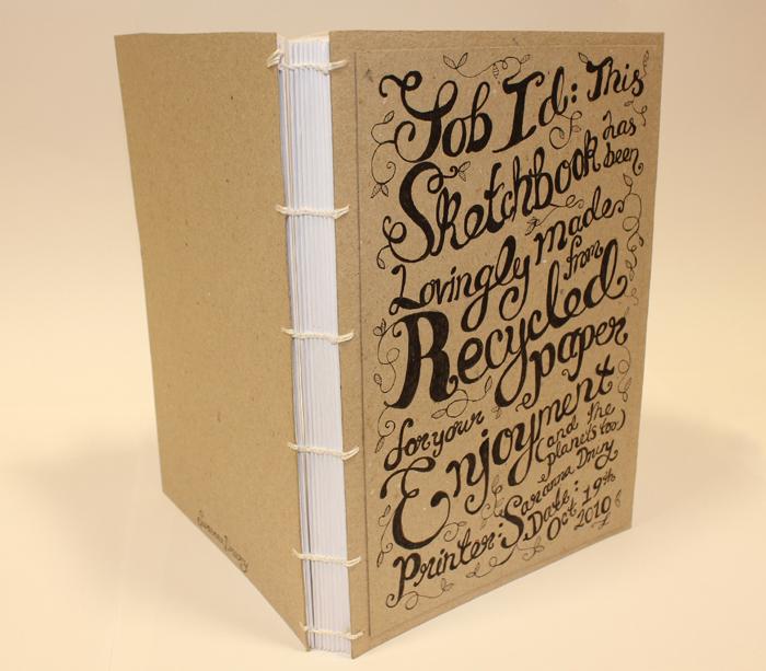 Cuaderno Reciclado con Portada Tipográfica por Saranna Drury