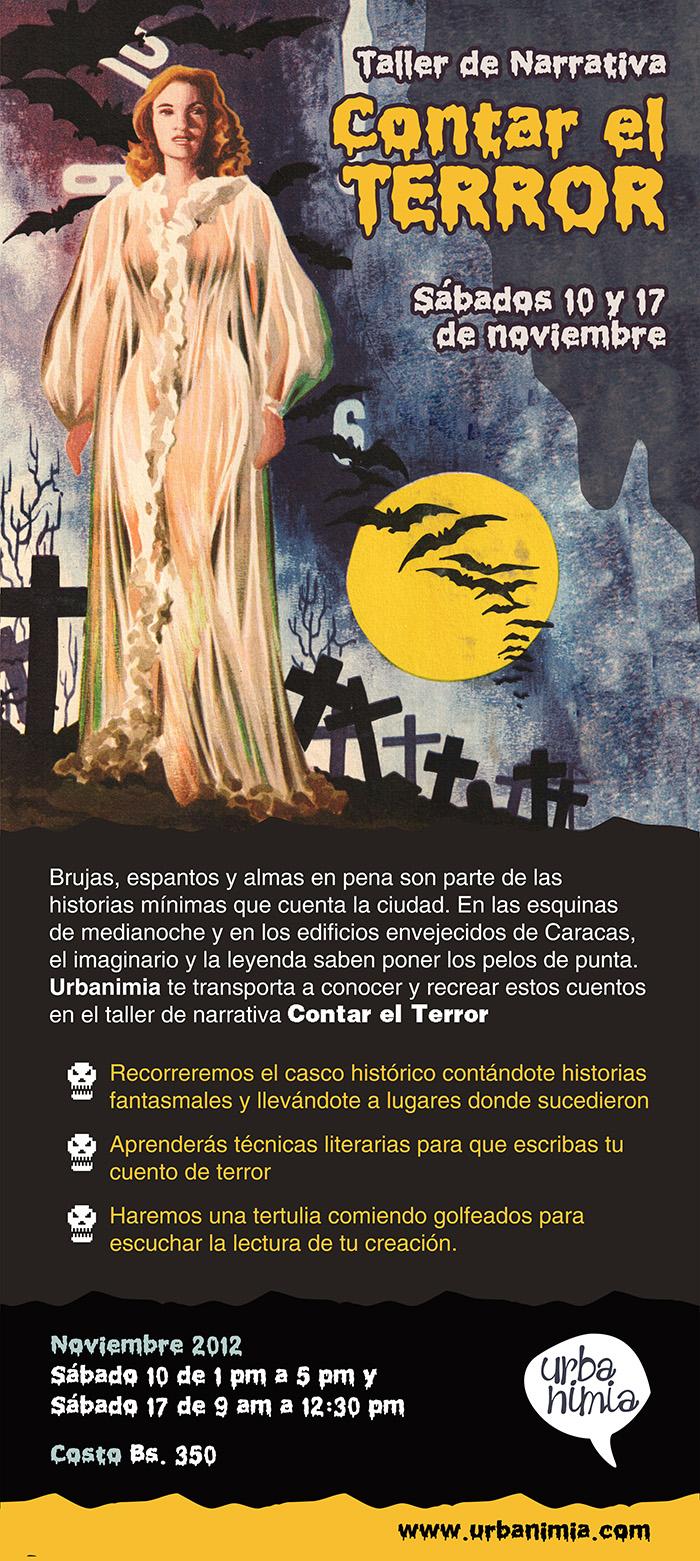 """Taller de Narrativa """"Contar El Terror"""" por Urbanimia"""