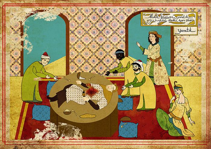 Carteles de películas en Arte Oriental por Murat Palta - Alien