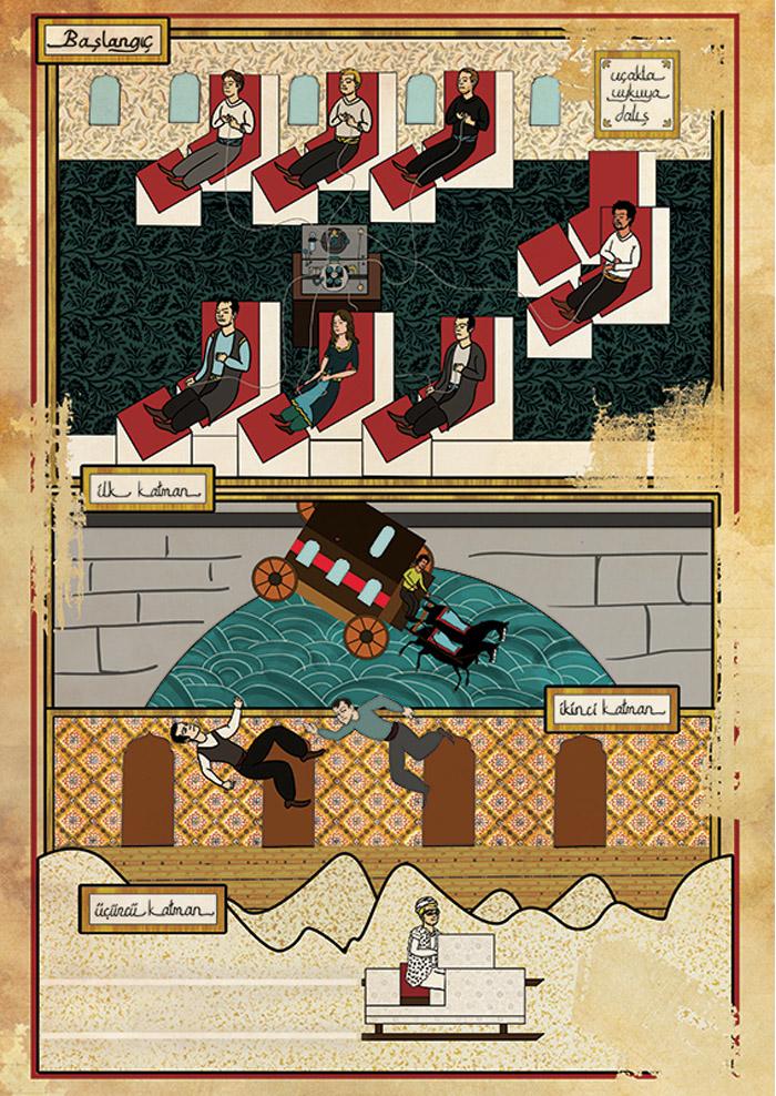 Carteles de películas en Arte Oriental por Murat Palta - Inception
