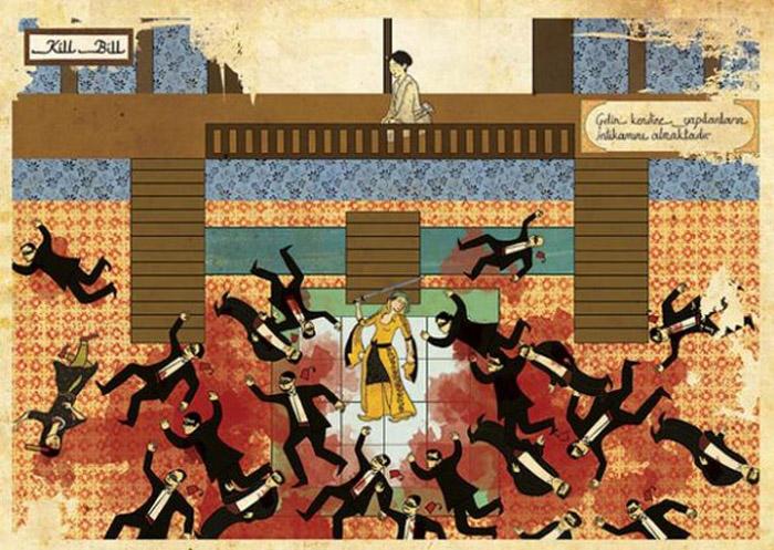 Carteles de películas en Arte Oriental por Murat Palta - Kill Bill