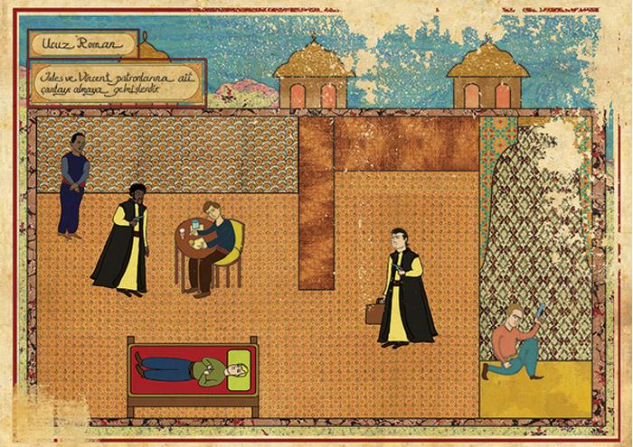 Carteles de películas en Arte Oriental por Murat Palta - Pulp Fiction