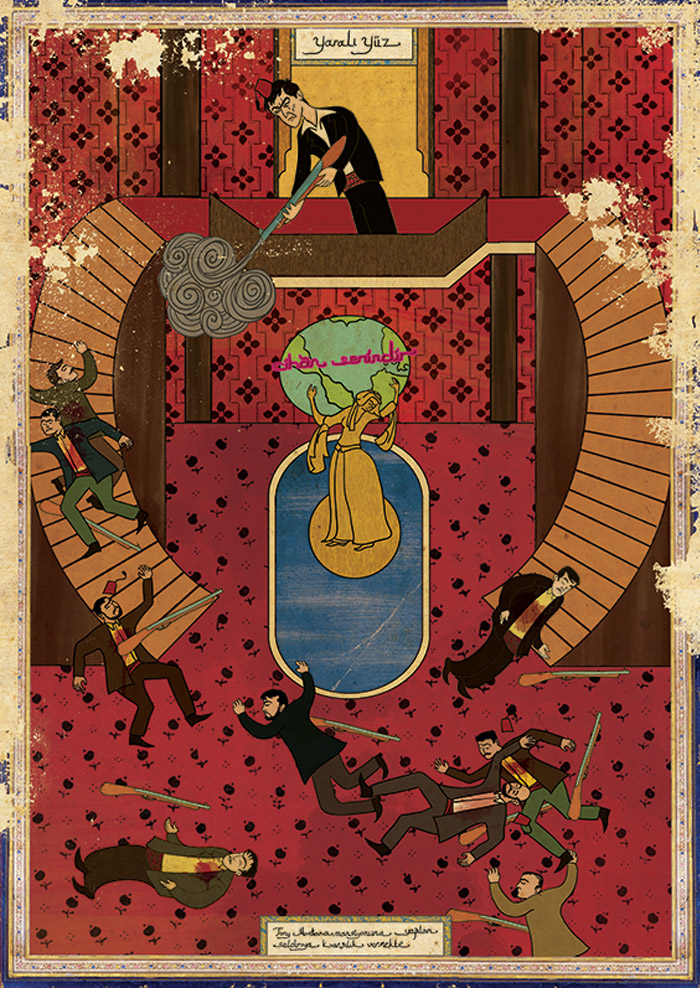 Carteles de películas en Arte Oriental por Murat Palta - Scarface
