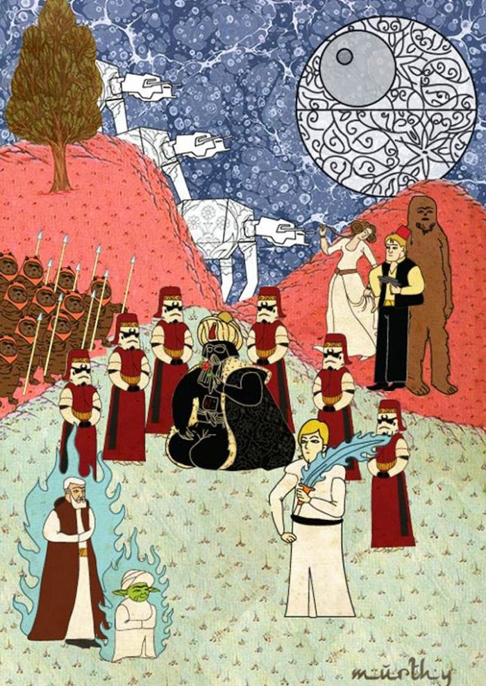Carteles de películas en Arte Oriental por Murat Palta - Star Wars