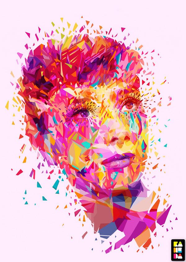 Audrey Hepburn by Kaneda