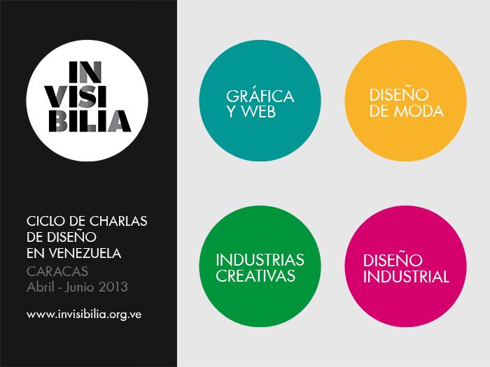 INVISIBILIA - Ciclo de Charlas de Diseño en Venezuela - Invitación