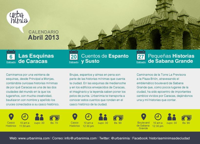 Urbanimia - Calendario Abril 2013