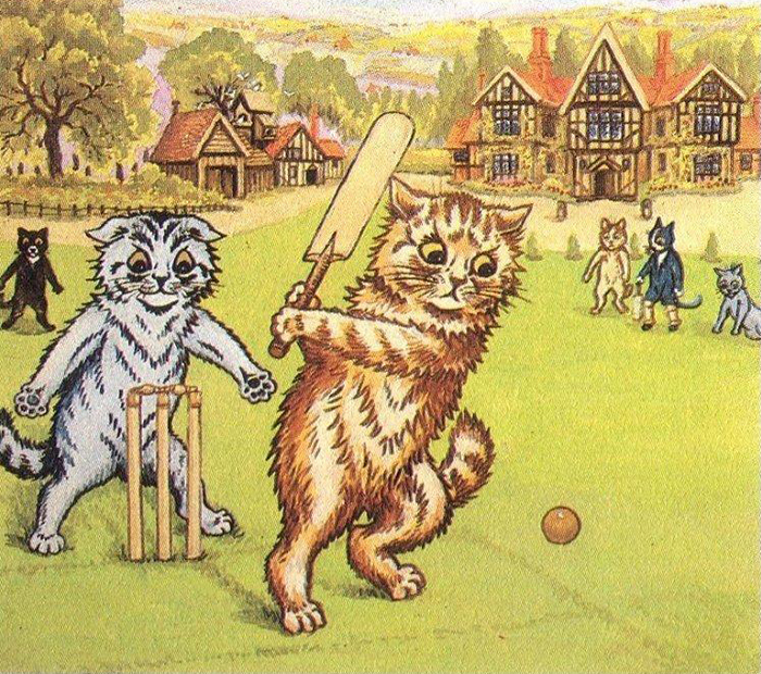 Louis Wain - Golf