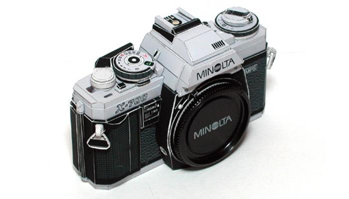 Cámara Minolta X-700 - Paper Model