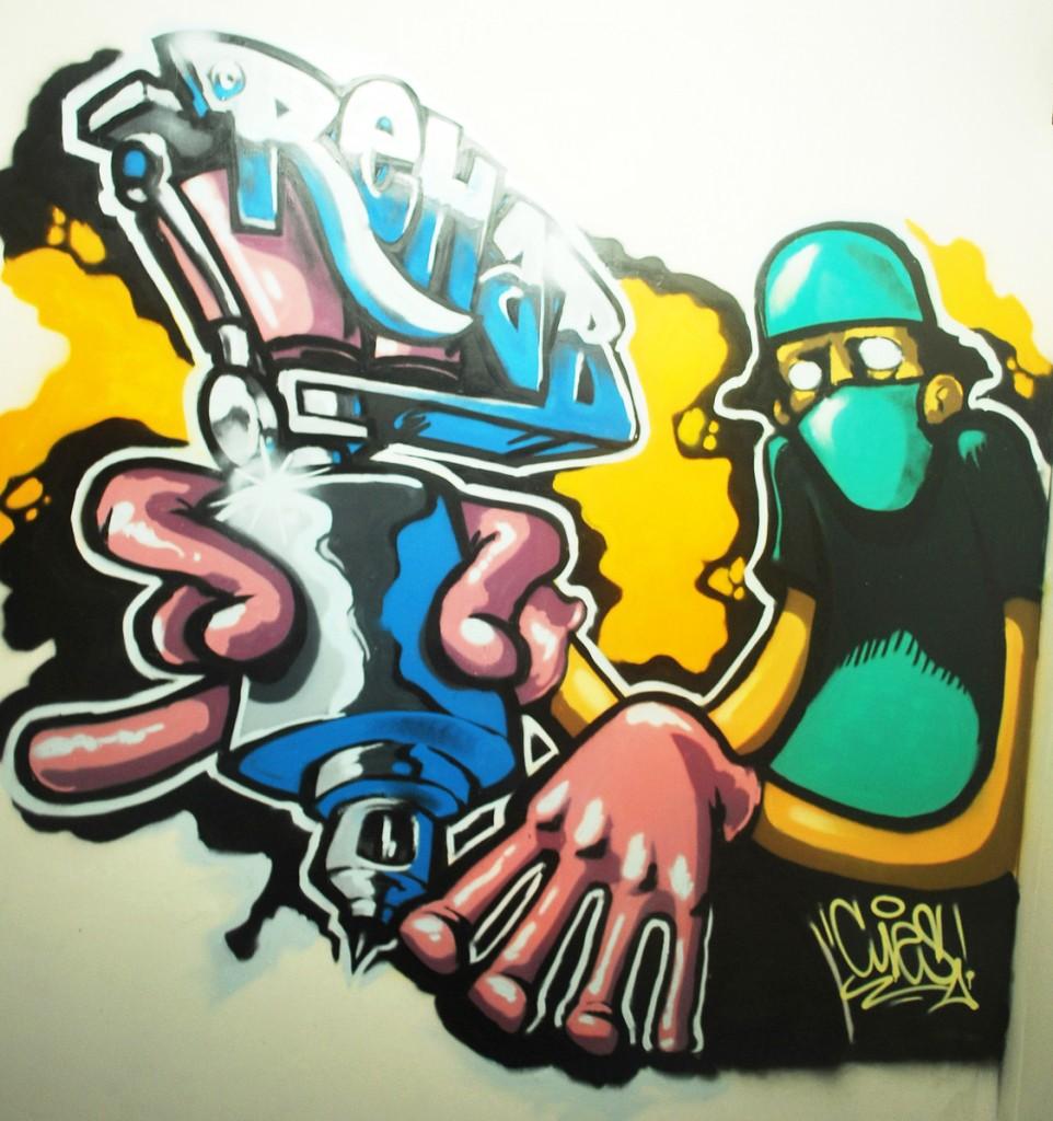 Grafiti en Rehab Tattoo