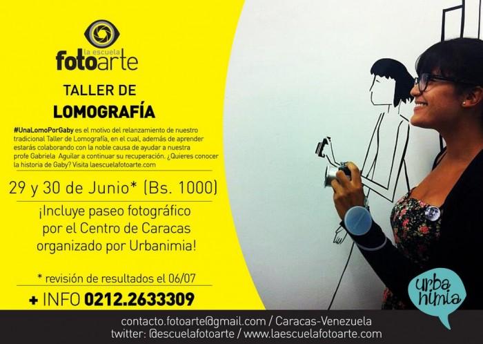 Taller de Lomografía: #UnaLomoPorGaby Caracas