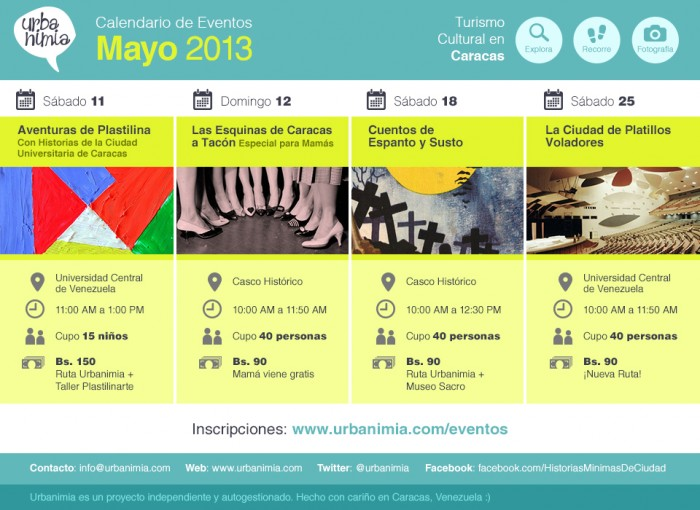 Urbanimia - Calendario Eventos Mayo 2013
