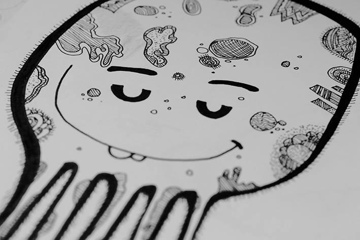 """Mostritos"" Sketchs por Andreaga"