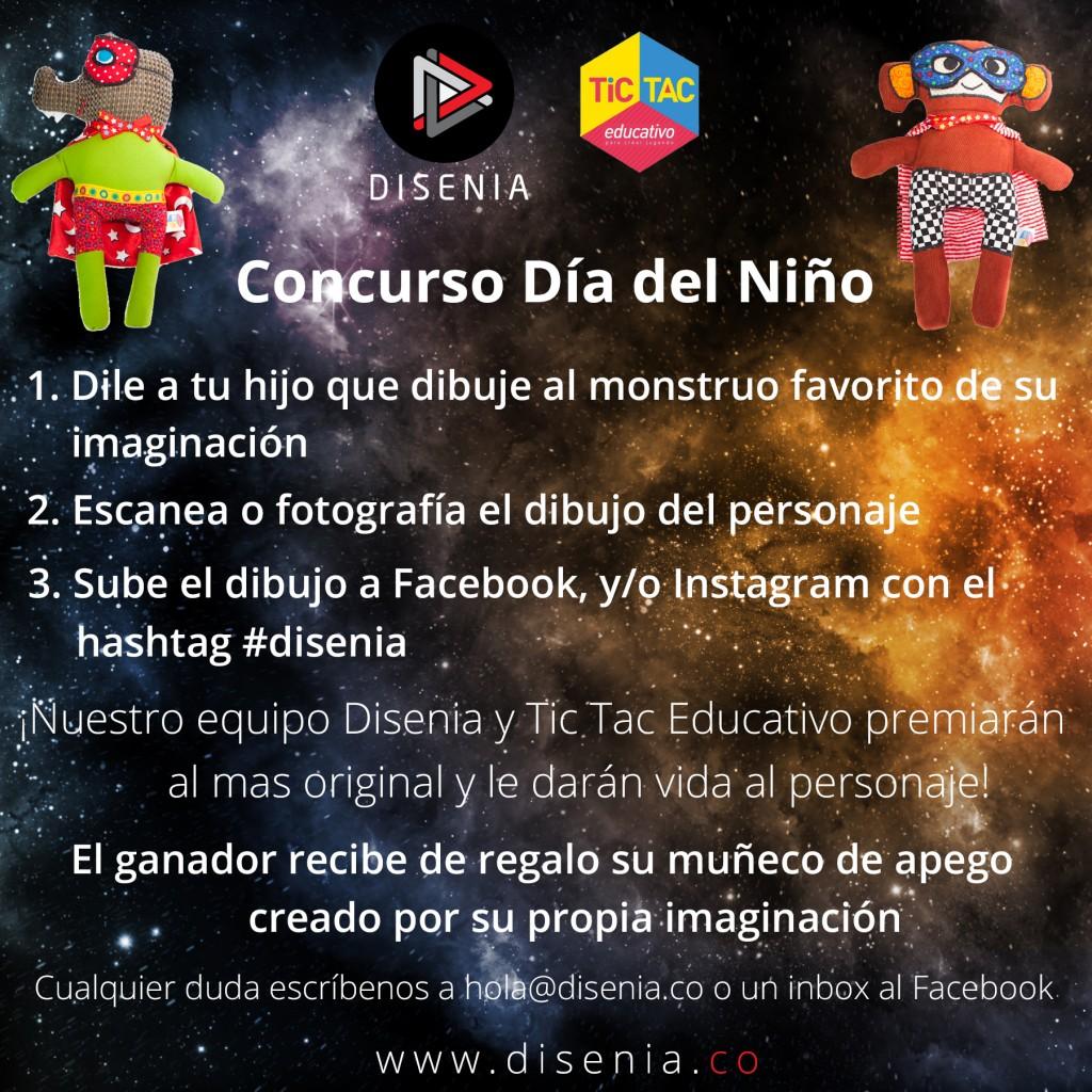 Concurso Día del Niño: Tic Tac Educativo y Disenia