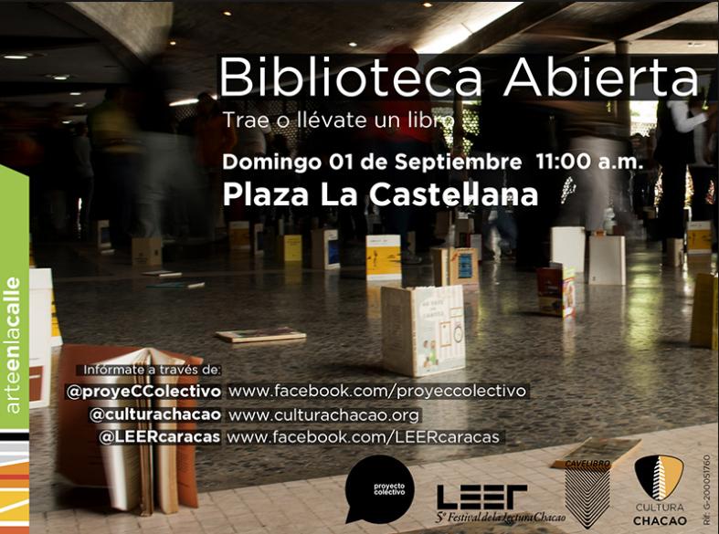 Biblioteca Abierta: Intercambio de Libros en la Plaza La Castellana (Chacao)