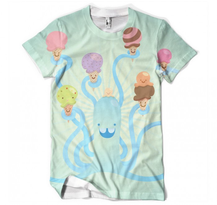 Piktorama - Men's Hungry Octopus Tee - Beloved