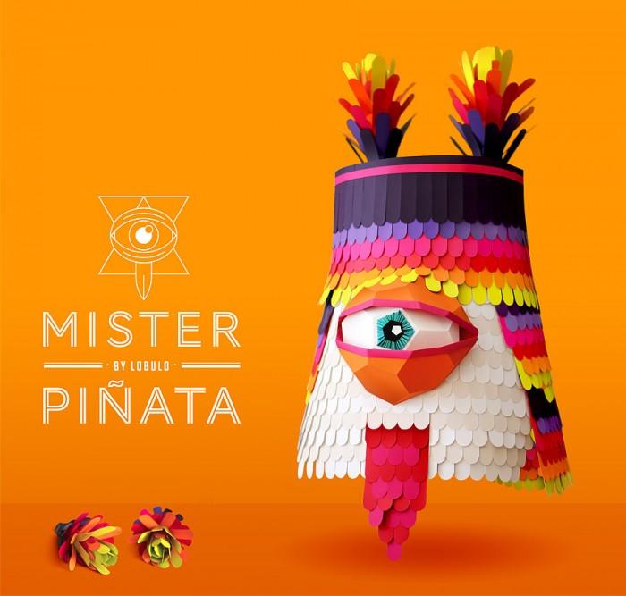 """""""Mister Piñata"""" proyecto personal, por Lobulo Design"""