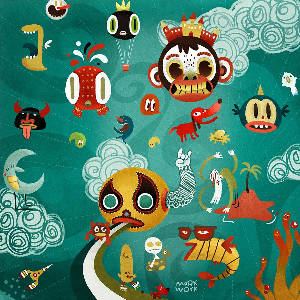 Microsoft - Ilustraciones por Morkwork (Marcos Andrade)