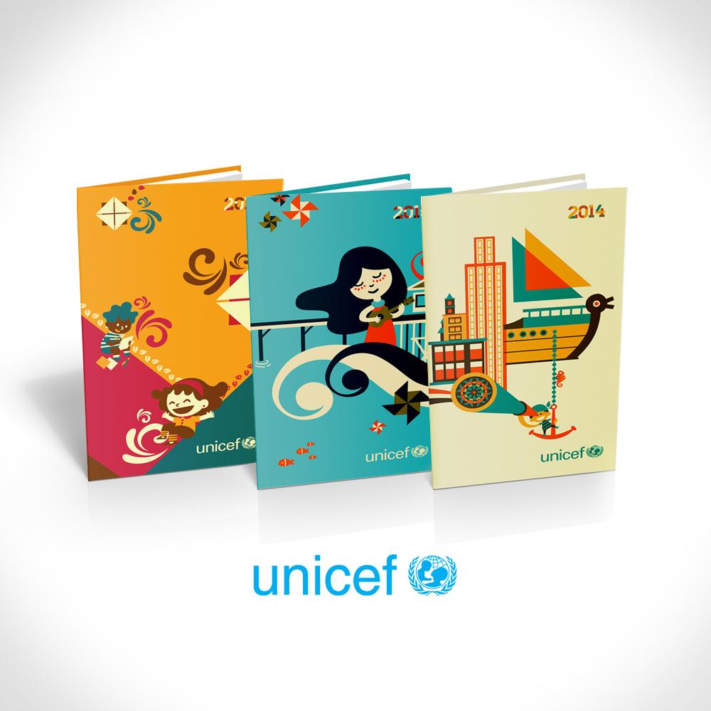 Unicef Agenda - Ilustraciones por Morkwork (Marcos Andrade)