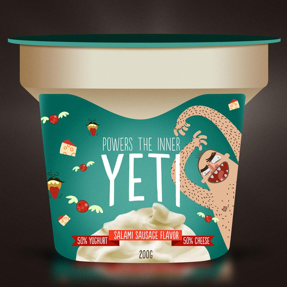 Yeti Yoghurt - Ilustraciones por Morkwork (Marcos Andrade)