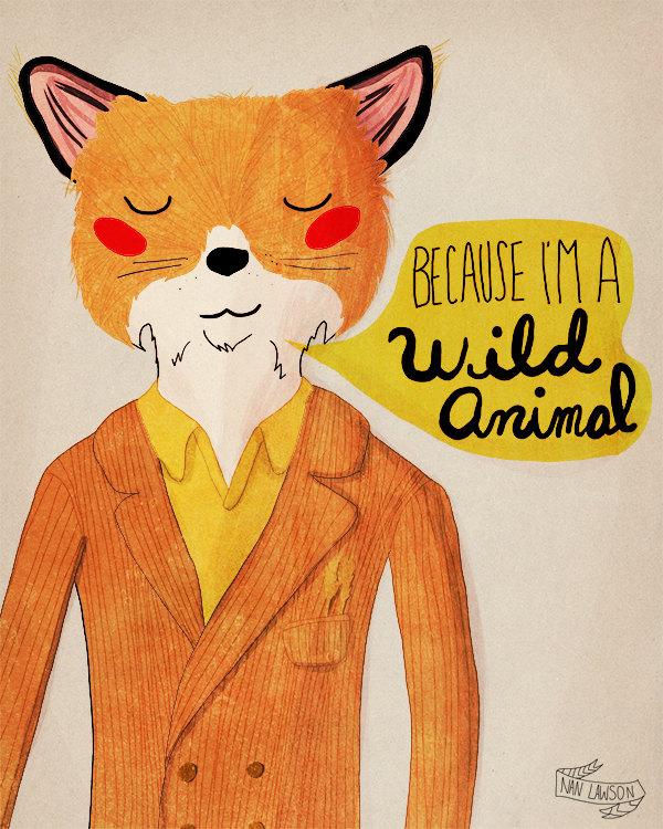 """Because I'm a Wild Animal"" por Nan Lawson"
