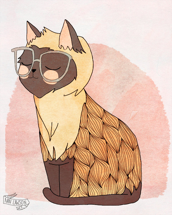 """Hip Cat"" por Nan Lawson"