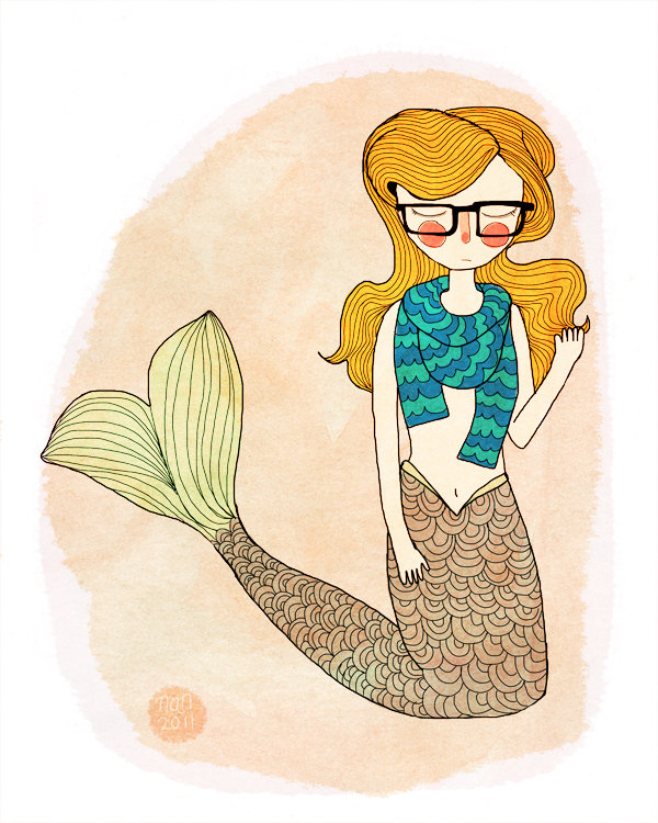 """Hipster Mermaid"" por Nan Lawson"
