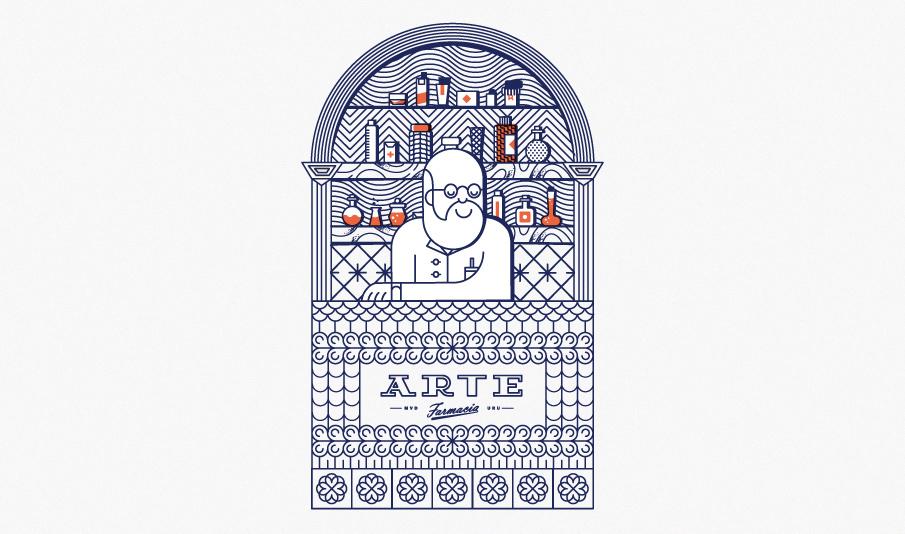 """Farmacia Arte"" por Martín Azambuja"