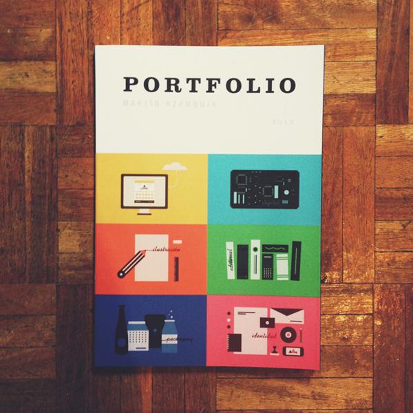 Diseño de portada para el portfolio final de facultad por Martín Azambuja
