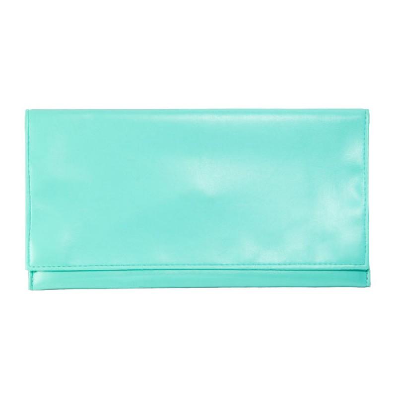 Accesorios para Ellas - Cartera tipo sobre color aguamarina (o turquesa) por Sakitos