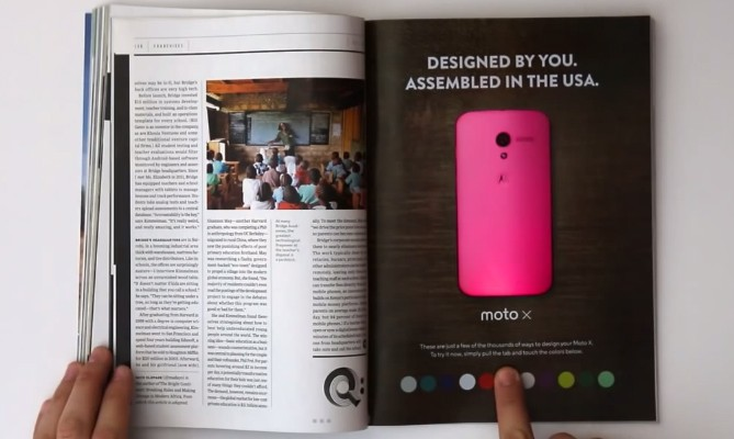 Moto X - Wired Magazine Ad