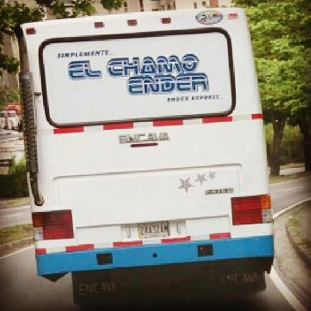 """Camionetica """"El Chamo Ender"""" (Caracas). Foto @ender03"""