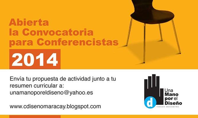 Convocatoria Conferencistas: Una Mano por el Diseño 2014
