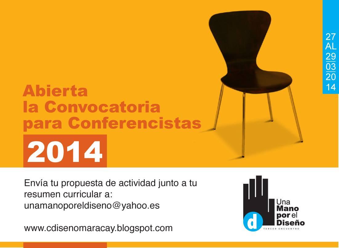 Convocatoria para Conferencistas: Una Mano por el Diseño 2014