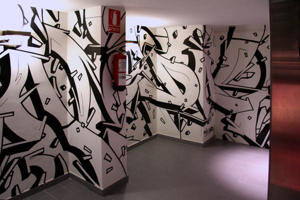 Aleix Gordo Hostau - Mural para Vincci Bit Hotel Barcelona