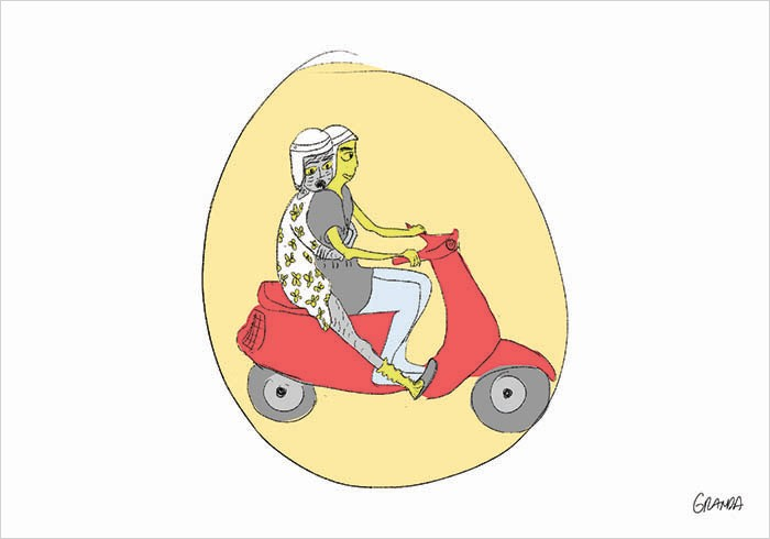 Eres más agarrao que vieja en moto
