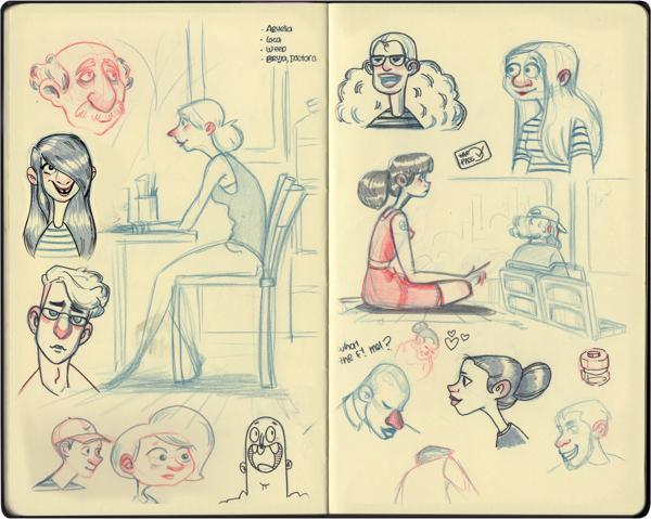 Melany Altuna - Character Design - Moleskine 2