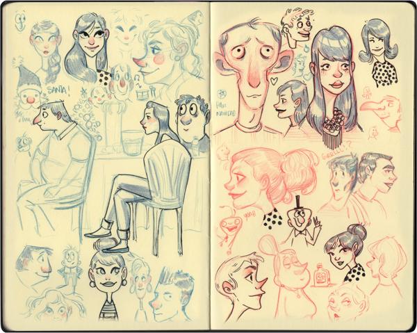 Melany Altuna - Character Design - Moleskine 3