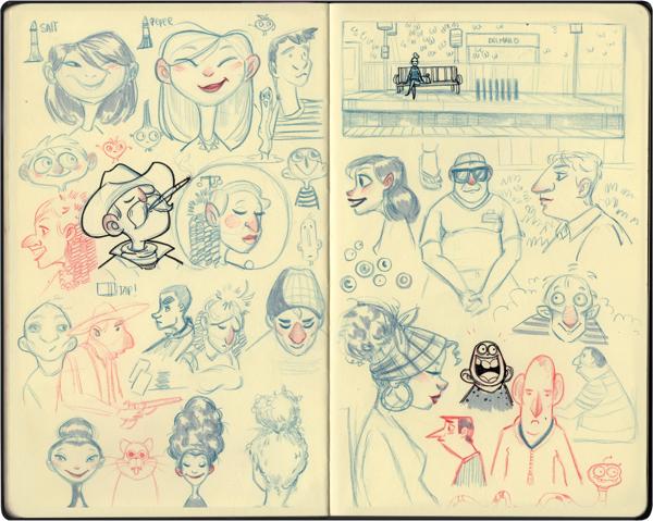 Melany Altuna - Character Design - Moleskine 4