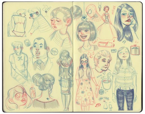Melany Altuna - Character Design - Moleskine 5