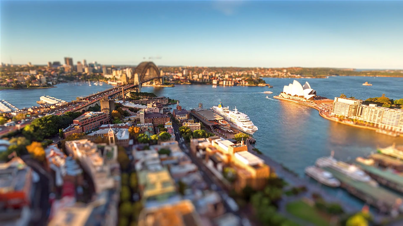 Tiny Sydney: Tilt-Shift de Sidney, Australia, por Filippo Rivetti
