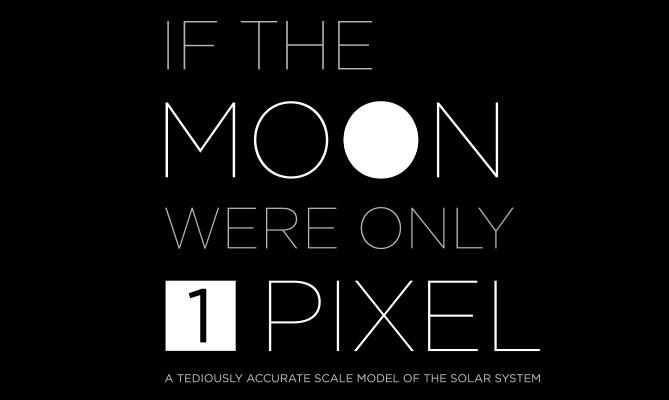 Si la Luna fuese 1 Píxel