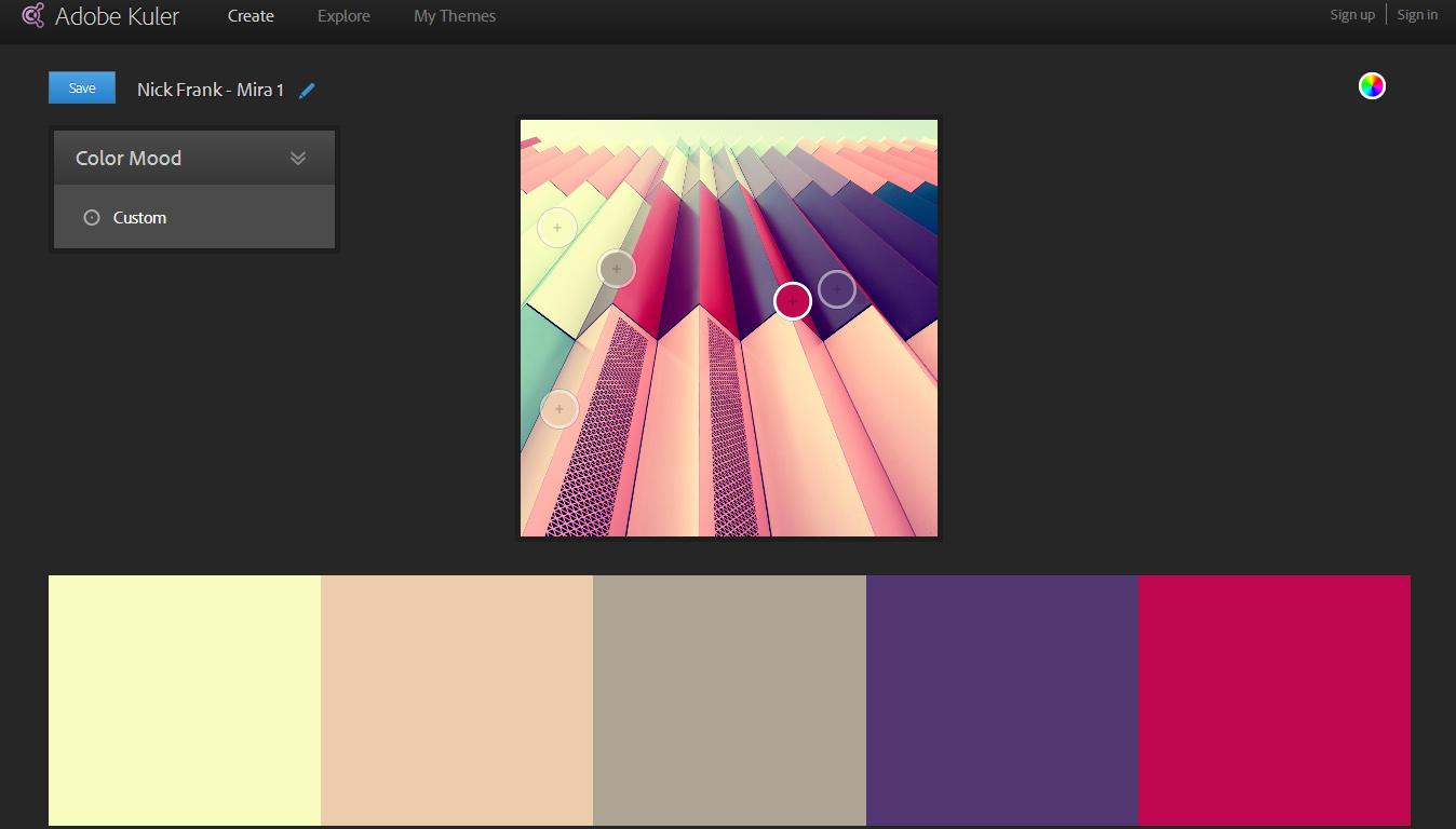 Extraer e identificar la paleta de colores principales de una imagen con Adobe Kuler