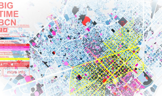 BIG TIME BCN: Mapa Interactivo de Barcelona