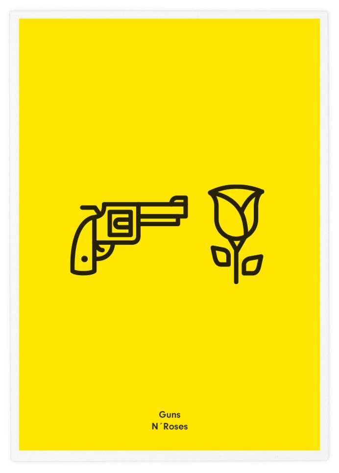 """""""Guns N' Roses"""" poster por Tata&Friends"""