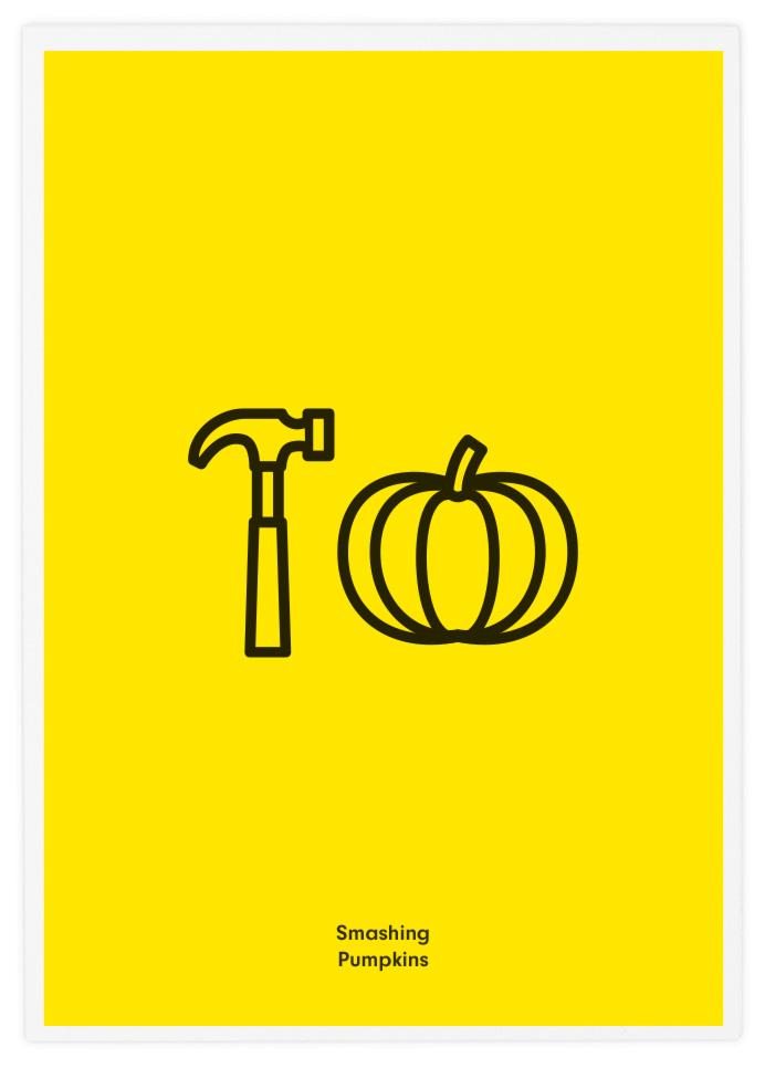 """Smashing Pumpkins"" poster por Tata&Friends"