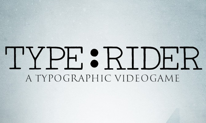 Giveaway - Type:Rider, videojuego tipográfico