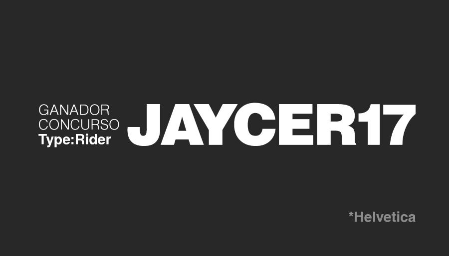 Ganador Concurso Type Rider, videojuego tipográfico : JAYCER17