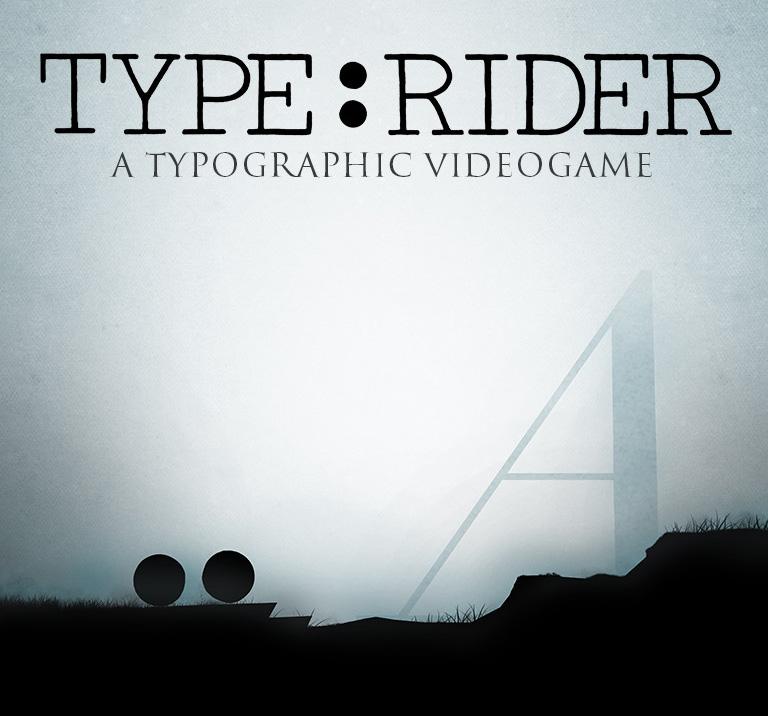 Type:Rider Videojuego Tipográfico